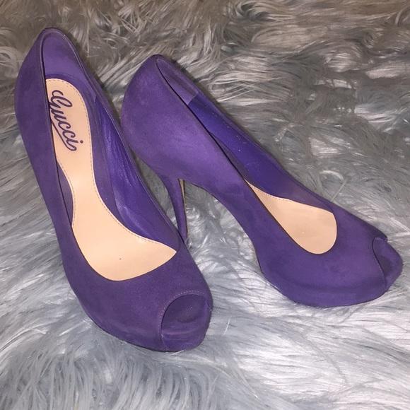 Purple Suede High Heels